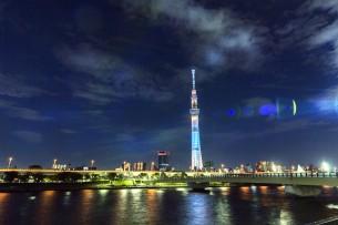 タイトルクリックで本文へ  2012.7.16 東京スカイツリーのライトアップは2種類あるので別の日にも行ってみました。